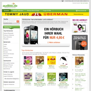 Ansicht vom Audible.de Shop