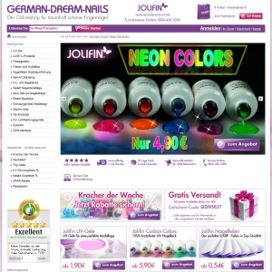 Ansicht vom German-Dream-Nails.com Shop