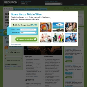 Ansicht vom Groupon.at Shop