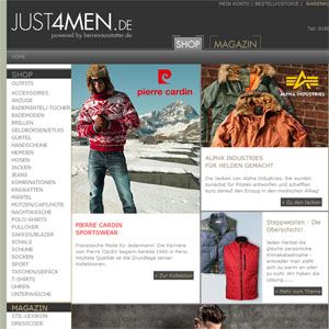 Ansicht vom JUST4MEN.de Shop