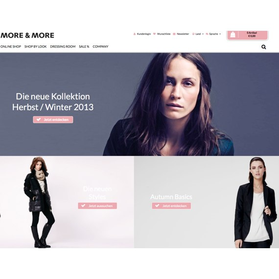 Die Webseite vom More-and-More.de Shop