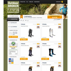 Ansicht vom Outdoor-Broker.de Shop