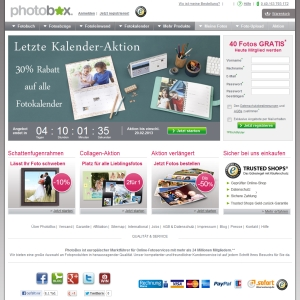 Ansicht vom Photobox.de Shop
