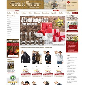 Ansicht vom World-of-Western.com Shop
